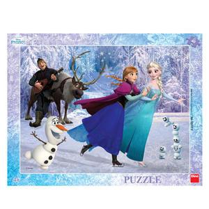Obrázok Puzzle Frozen Na bruslích