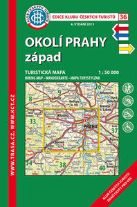 Obrázok KČT 36 Okolí Prahy západ 1:50 000