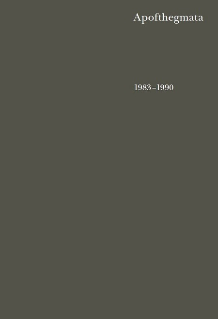 Apofthegmata 1983–1990 - Otec Jeroným