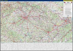 Obrázok Česko nástěnná automapa