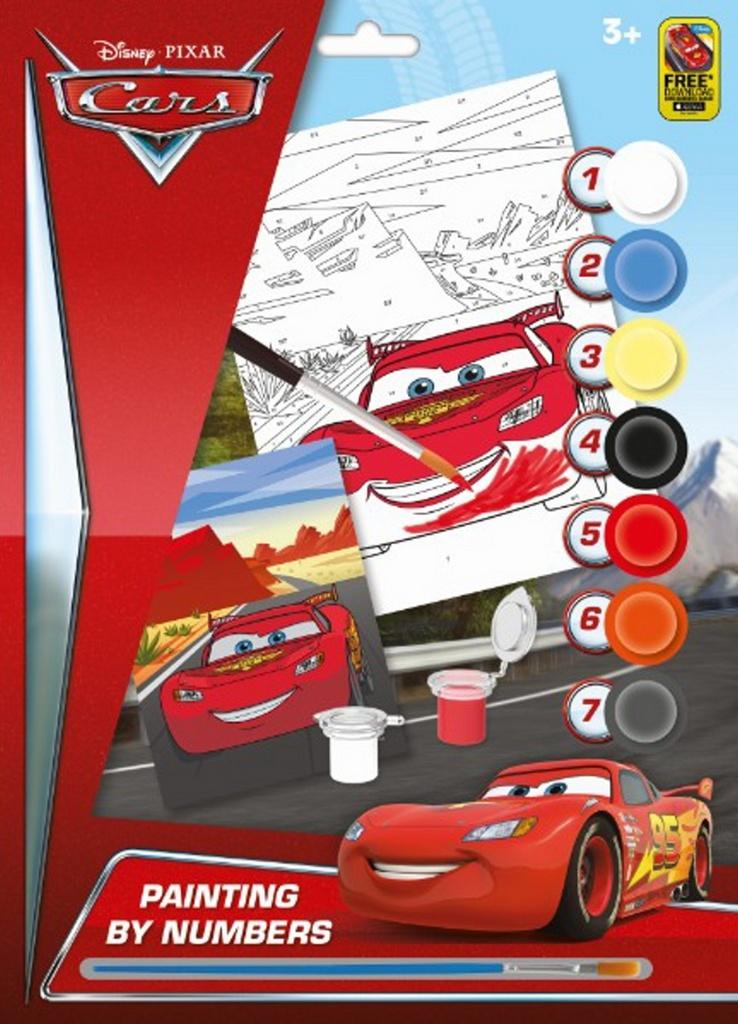 Malování podle čísel A4 Cars