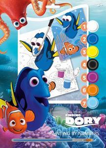 Obrázok Malování podle čísel A4 Hledá se Dory