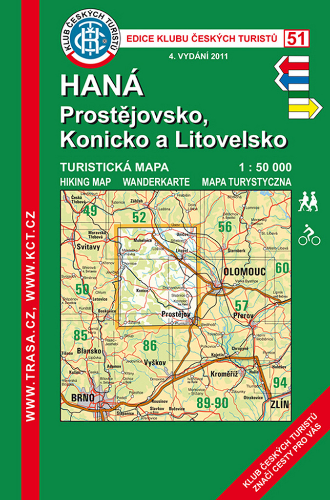 KČT 51 Haná, Prostějovsko 1:50 000