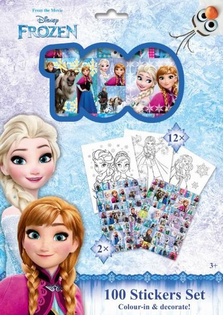 100 Stickers Set Ledové království
