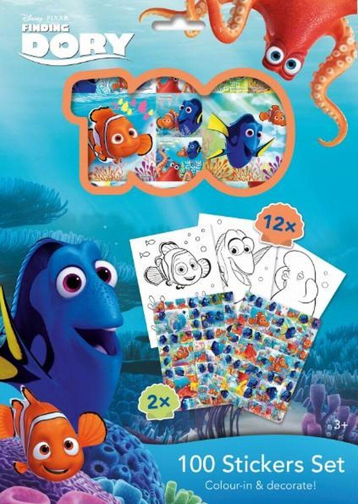 100 Stickers Set Hledá se Dory