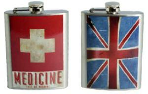 Obrázok Likérka celokovová s potiskem Medicine,vlajka