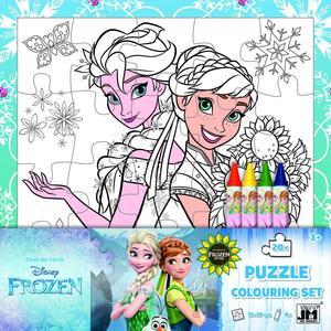 Obrázok Ledové království omalovánkové puzzle