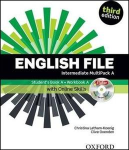 Obrázok English File Third Edition Intermediate Multipack A with Online Skills