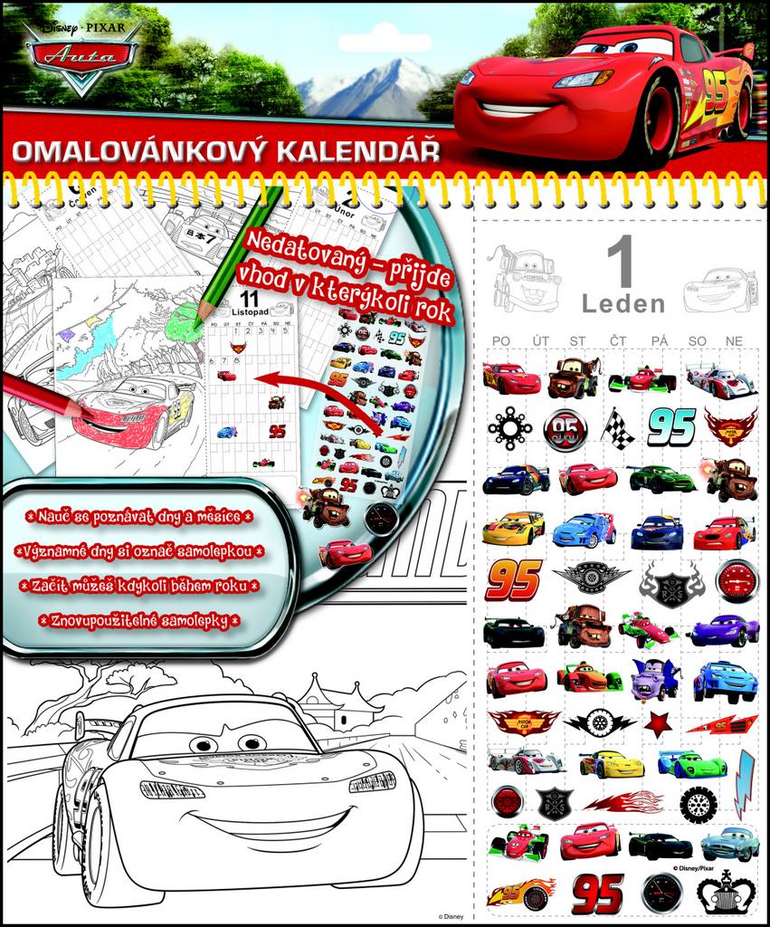 Stolní kalendář Auta