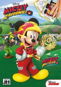 Mickey a závodníci omalovánka