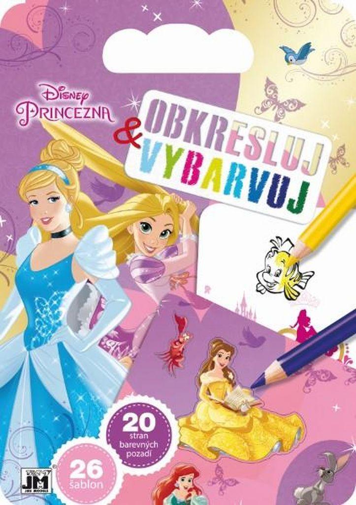 Obkresluj a vybarvuj Disney Princezny