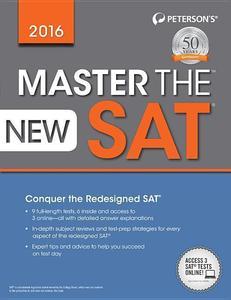 Obrázok Peterson's Master the New SAT 2016