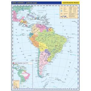 Obrázok Jižní Amerika Obecně příruční politická mapa