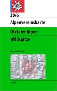 Obrázok Ötztaler Alpen Wildspitze 1:25 000