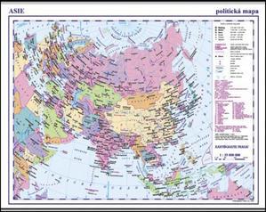 Obrázok Asie příruční politická mapa