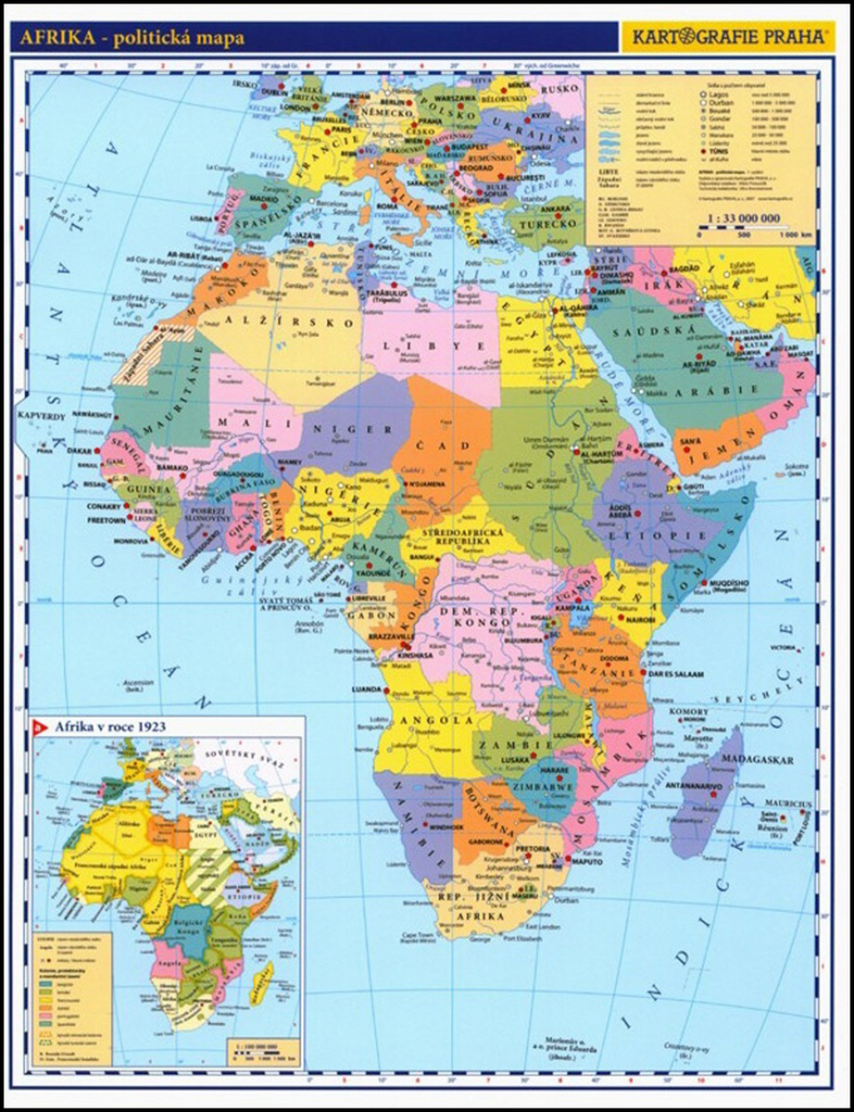 Afrika Prirucni Politicka Mapa Knihcentrum Cz