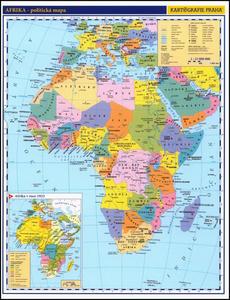 Obrázok Afrika příruční politická mapa
