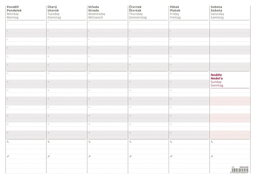 Tydenni Planovaci Mapa A3 Stolni Kalendar 2020 Knihcentrum Cz