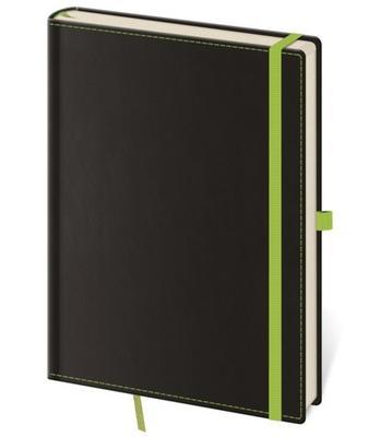 Obrázok Zápisník Black Green L tečkovaný