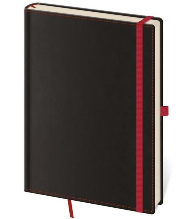 Zápisník Black Red S linkovaný