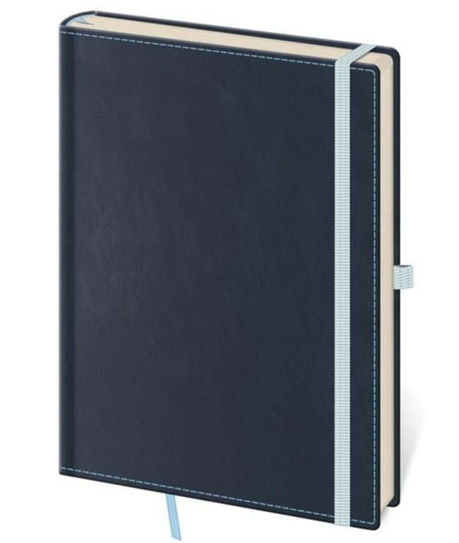 Zápisník Double Blue S linkovaný