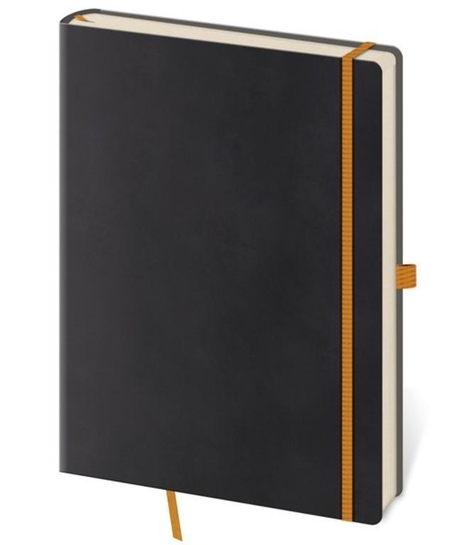Zápisník Flexies M linkovaný černý