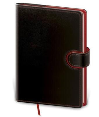 Obrázok Zápisník Flip L linkovaný černo/červený