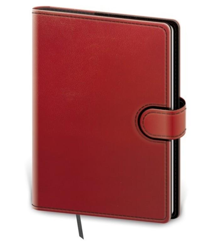 Zápisník Flip M linkovaný červeno/černý
