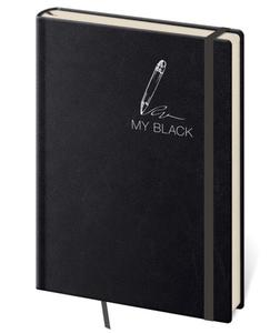 Obrázok Zápisník My Black L linkovaný