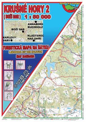 Krušné Hory 2 Šátek s mapou