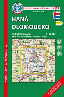 KČT 57 Haná Olomoucko 1:50 000