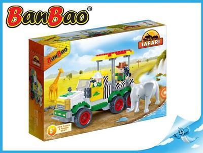 BanBao stavebnice Safari terénní jeep 248ks + 2 figurky