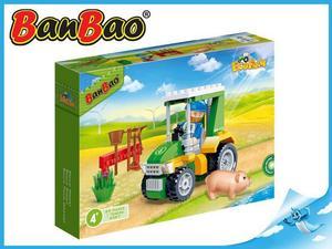 Obrázok BanBao stavebnice Eco Farm farmářský traktůrek 88ks + 1 figurka ToBees