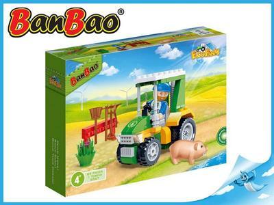 BanBao stavebnice Eco Farm farmářský traktůrek 88ks + 1 figurka ToBees