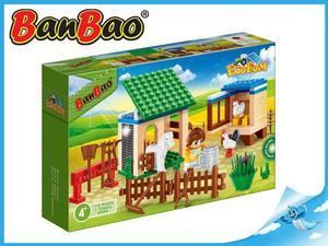 Obrázok BanBao stavebnice Eco Farm zahrádka se zvířátky 115ks + 1 figurka ToBees