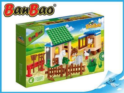 BanBao stavebnice Eco Farm zahrádka se zvířátky 115ks + 1 figurka ToBees