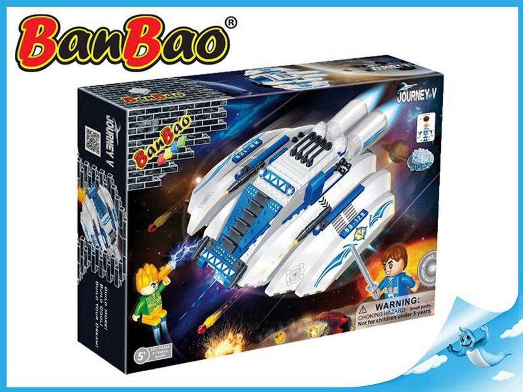 BanBao stavebnice Journey V vesmírná loď BB-129 na baterie se světlem 252ks