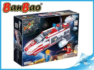 BanBao stavebnice Journey V vesmírná loď BB-130 na baterie se světlem 252ks