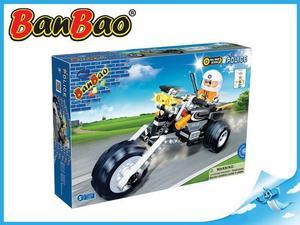 Obrázok BanBao stavebnice Police policejní motorka zpětný chod 140ks + 1 figurka ToBees