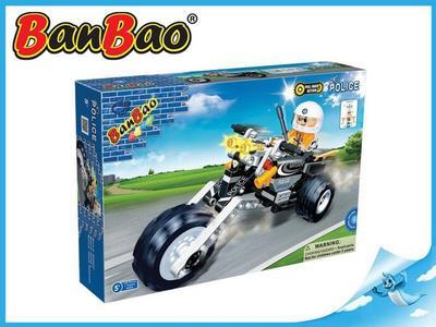 BanBao stavebnice Police policejní motorka zpětný chod 140ks + 1 figurka ToBees