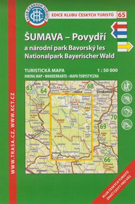 KČT 65 Šumava - Povydří a národní park Bavorský les 1:50 000