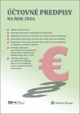 Účtovné predpisy na rok 2016