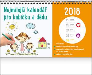 Obrázok Nejmilejší kalendář pro babičku a dědu - stolní kalendář 2018