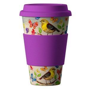 Obrázok Termohrnek Bamboo Cup 400ml Birds
