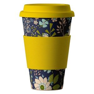 Picture of Termohrnek Bamboo Cup 400ml Dark Flowers