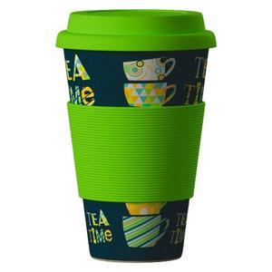 Obrázok Termohrnek Bamboo Cup 400ml Tea Time Green