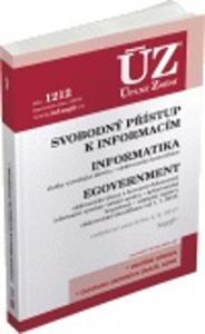 Obrázok ÚZ 1212 Svobodný přístup k informacím, Informatika, eGovernment