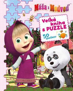 Obrázok Máša a medveď Veľká kniha s puzzle 50 dielikov