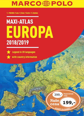 Obrázok MAXI ATLAS Evropa 2018/2019 1:750 000