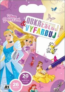 Obrázok Obkresľuj a vyfarbuj Princezné
